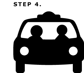 Step4: Enjoy your ride. Thanks for choosing 1 3 CABS.